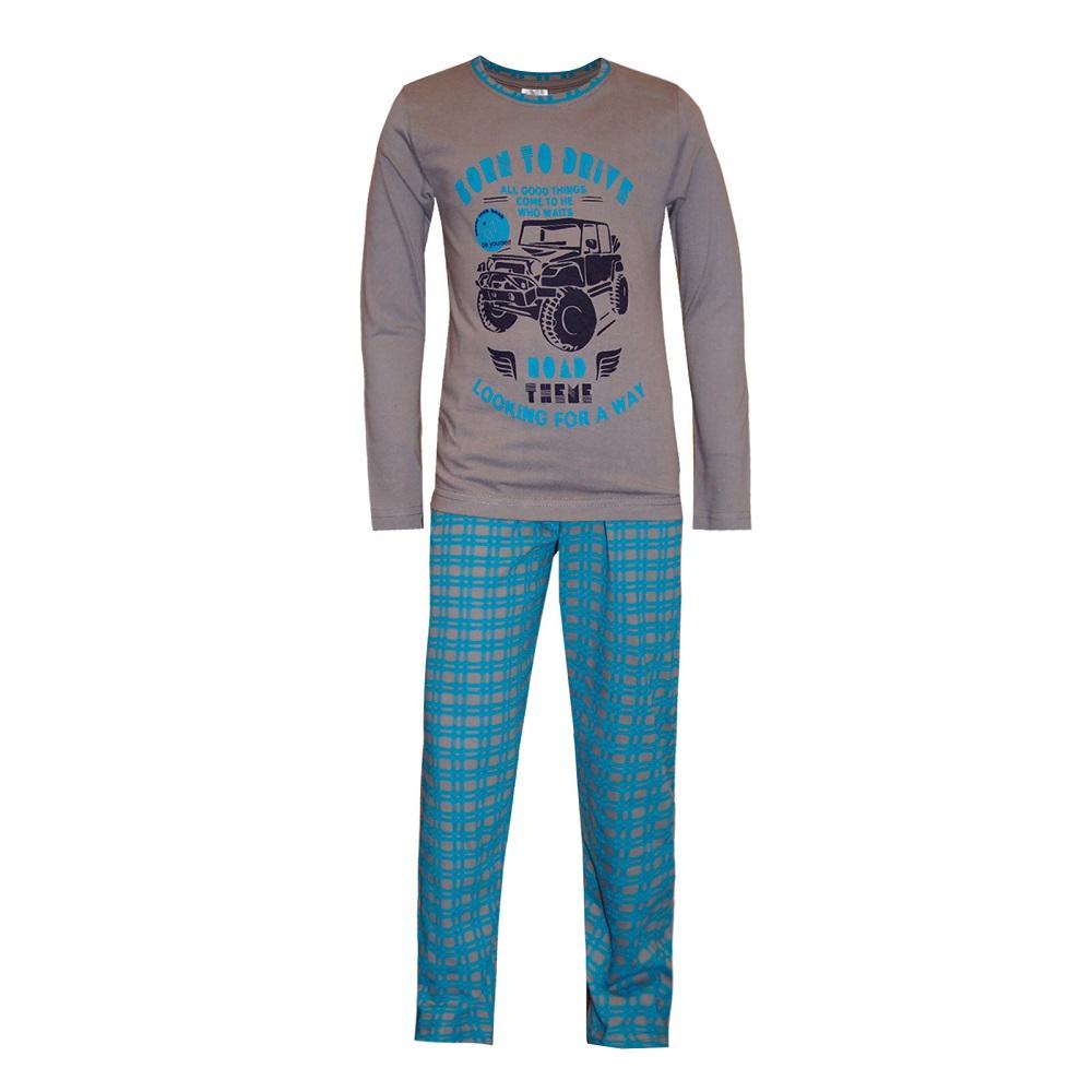 Купить Пижама НОАТЕКС+ для мальчика: фуфайка и брюки, Журавлик, Россия, Голубой, 140