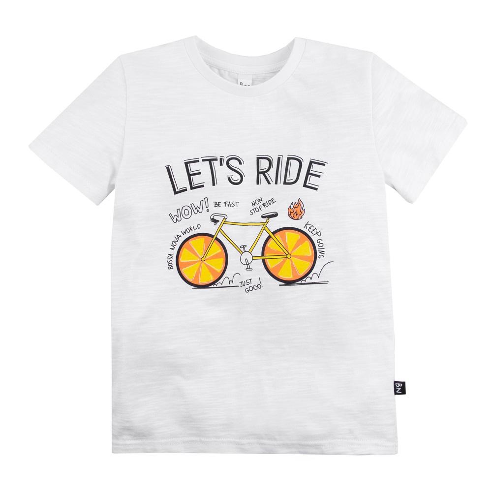 Купить Футболка Bossa Nova Лето Let's Ride, для мальчика, белая, CS Medica, Россия, Белый, 110
