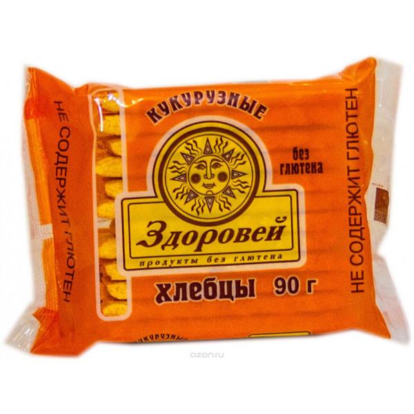Купить Хлебцы хрустящие Здоровей кукурузные, 90гр, Россия