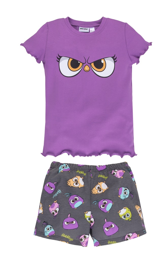 Купить Пижама Bossa Nova Angry Birds для девочки: футболка и шорты, Витоша, Россия, Мульти, 122