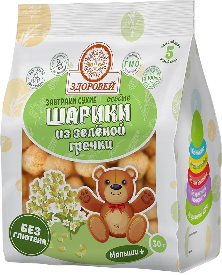 Купить Шарики особые Здоровей из зеленой гречки, 30гр, Россия