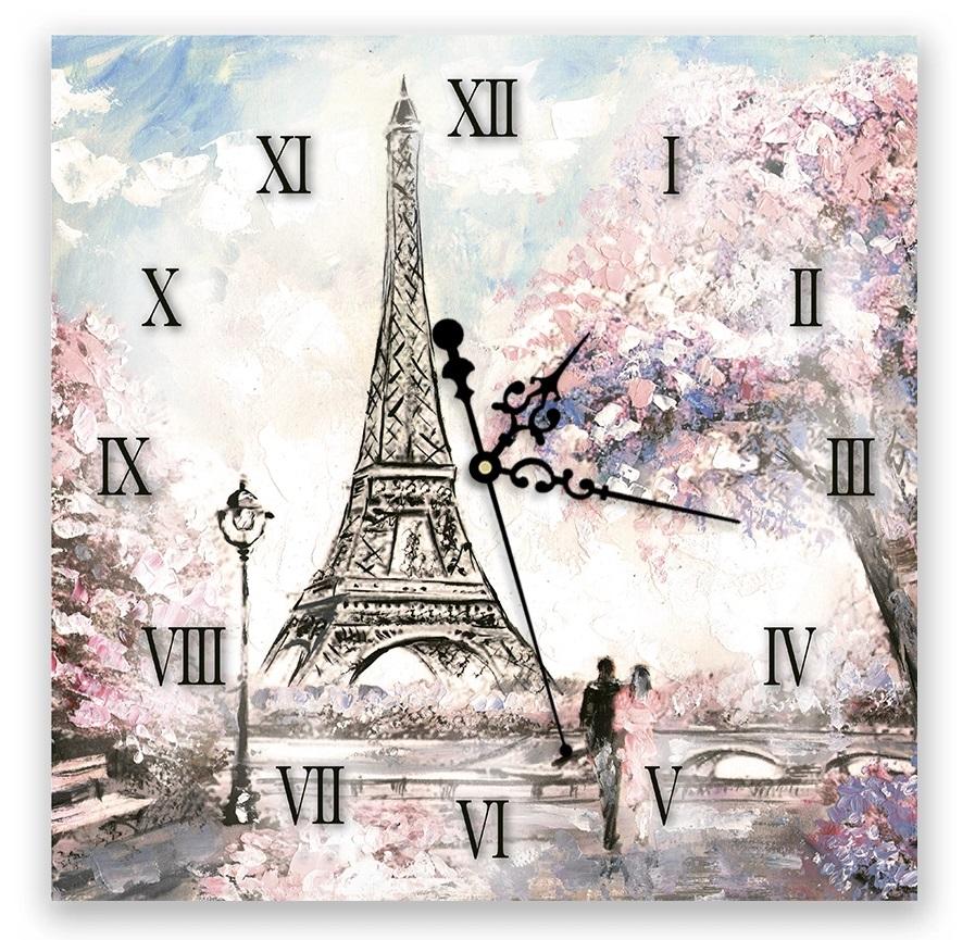 """Часы настенные Decoretto """"Париж для двоих"""" фото"""