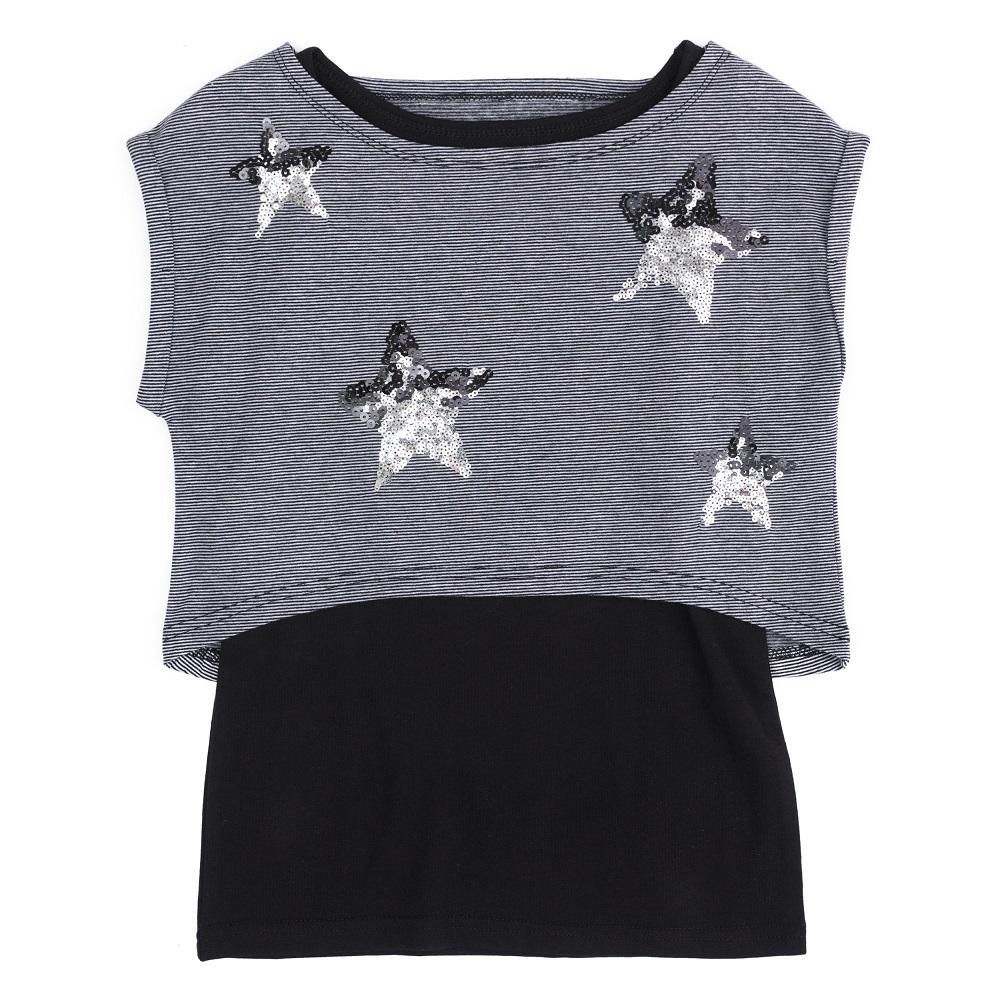 Купить Комплект PlayToday «Звезды» для девочек: футболка и майка, Наша Мама, Россия, Мульти, 122