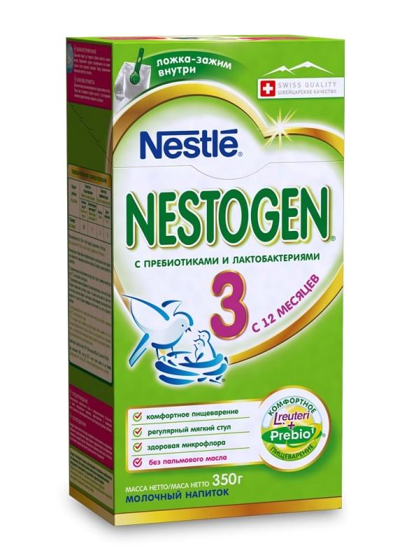Nestogen® 3 Сухое молочко с пребиотиками и лактобактериями L.reuteri, 350гр