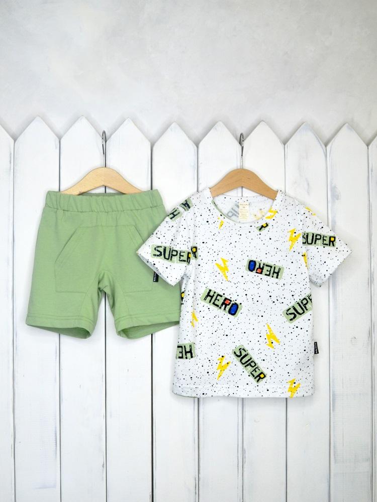 """Комплект детский Baby Boom """"Супергерой"""": футболка и шорты фото"""