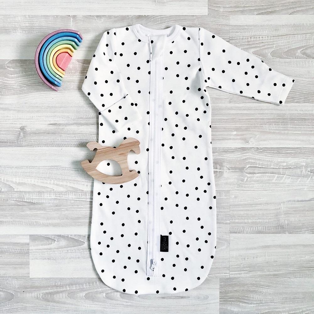 Купить Спальный мешок Mjolk Basic Горошки , Витоша, Россия, Белый, 56