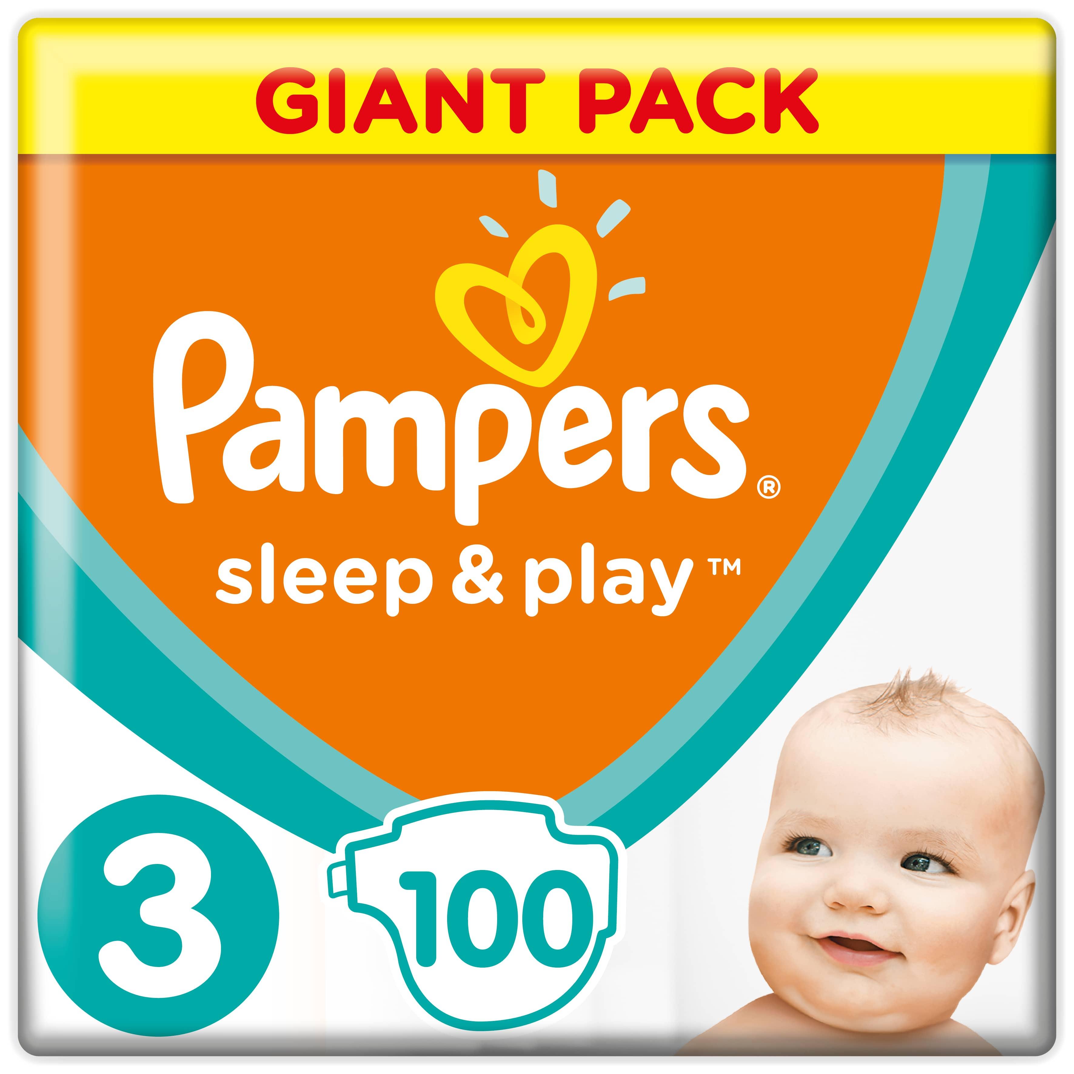 Купить Подгузники Pampers Sleep & Play Midi (6-10 кг), 100шт., США
