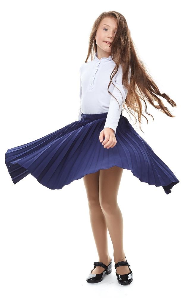 Блузка UMKA 2S6-004-11811 для девочки, белая фото