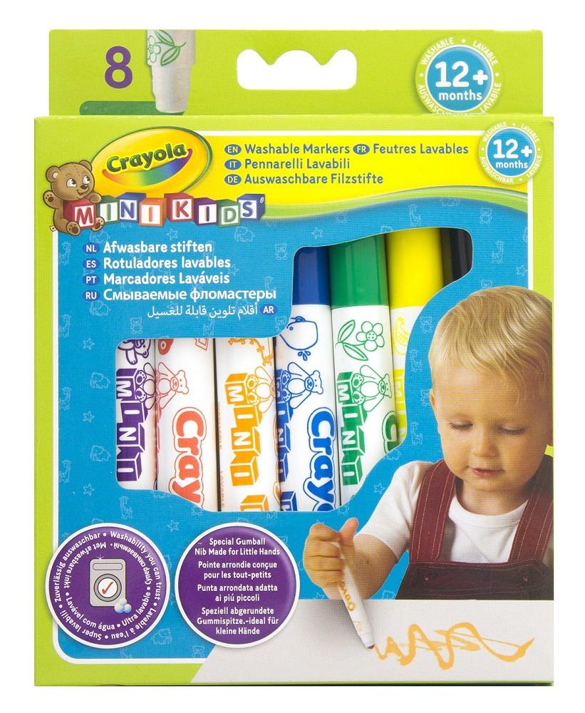 Смывающиеся фломастеры Crayola, 8шт.