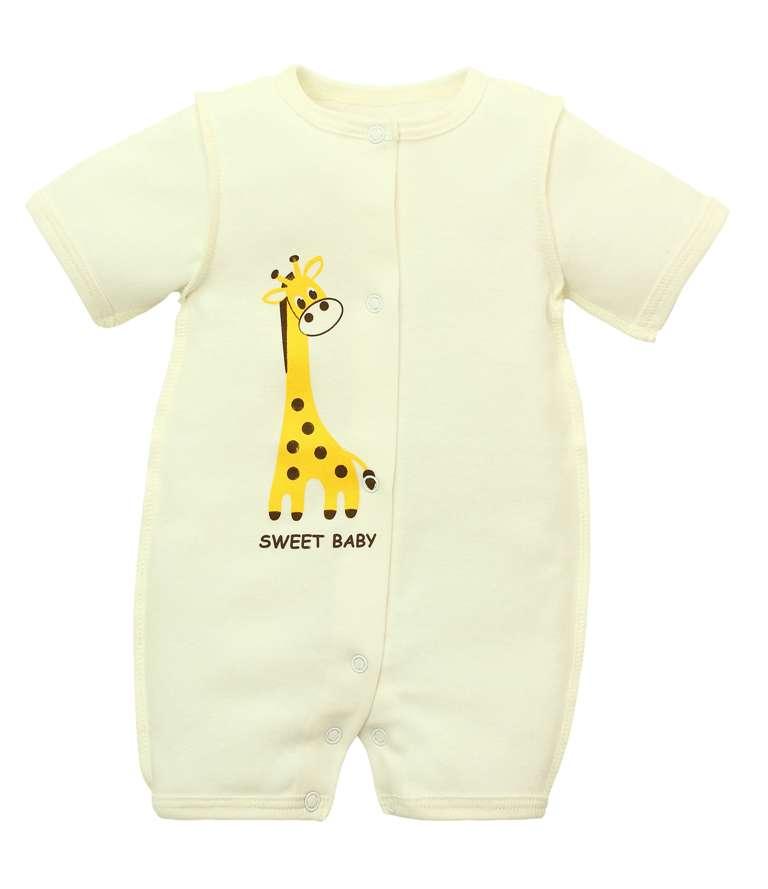 "Боди-песочник ""Бэбилита"" с жирафом, молочное фото"