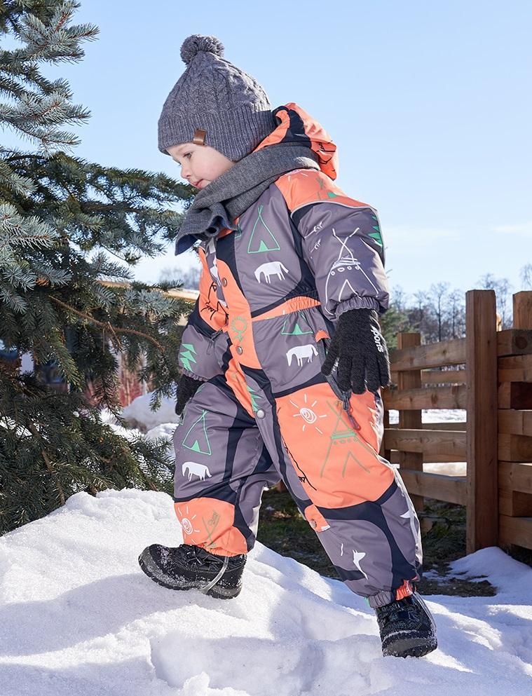 Купить Комбинезон OLDOS Тибо зимний для мальчика, тыквенно-серый, Crayola, Соединенные Штаты Америки, Мульти, 80