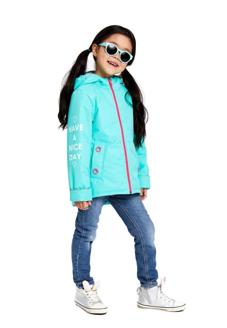 Купить Куртка утепленная OLDOS Кэтрин для девочки, мятная, Crayola, Соединенные Штаты Америки, Мятный, 110
