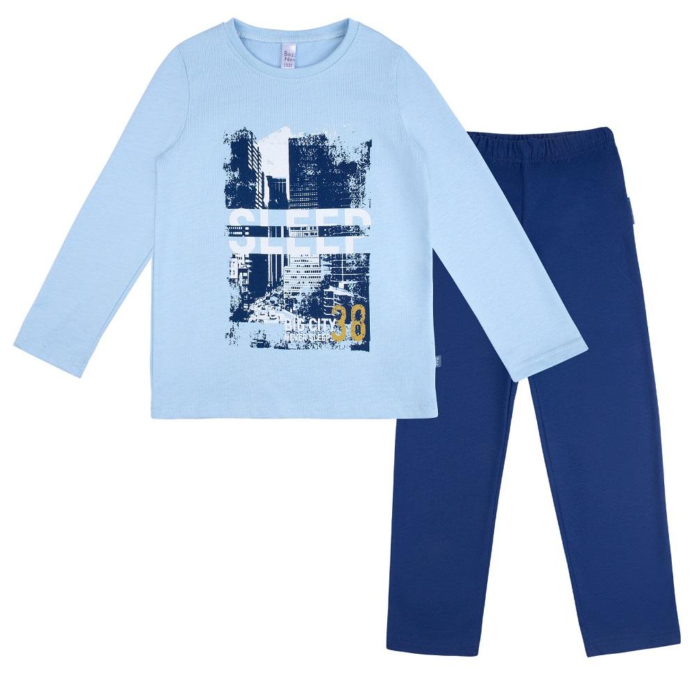 Купить Пижама Bossa Nova Морфей для мальчика: джемпер и брюки, сине-голубая, Витоша, Россия, Синий, 122