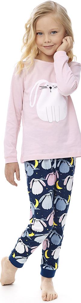 Купить Комплект пижамный UMKA Кролик 204-026-01: футболка и брюки, для девочки, Витоша, Россия, Мульти, 122