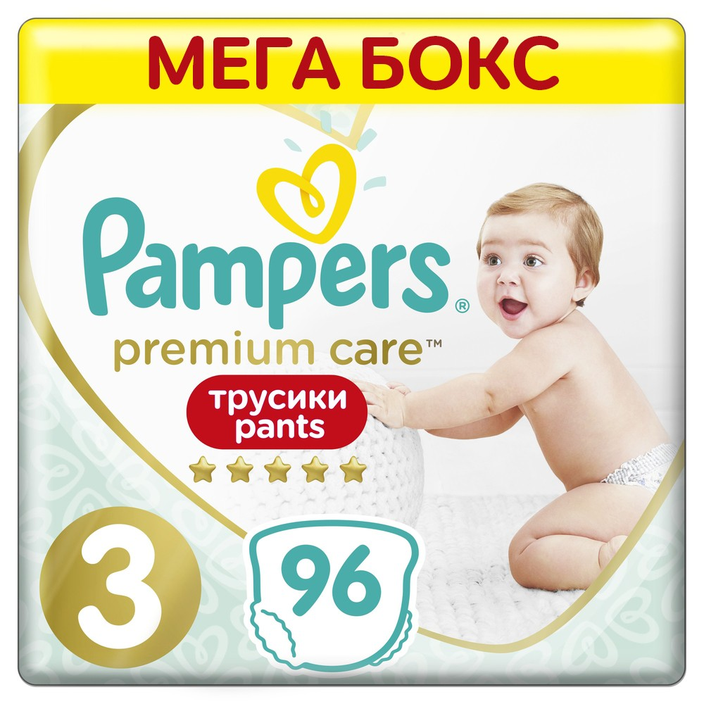 Подгузники-трусики Pampers Premium Care Pants Midi 3 (6-11кг), 96шт.