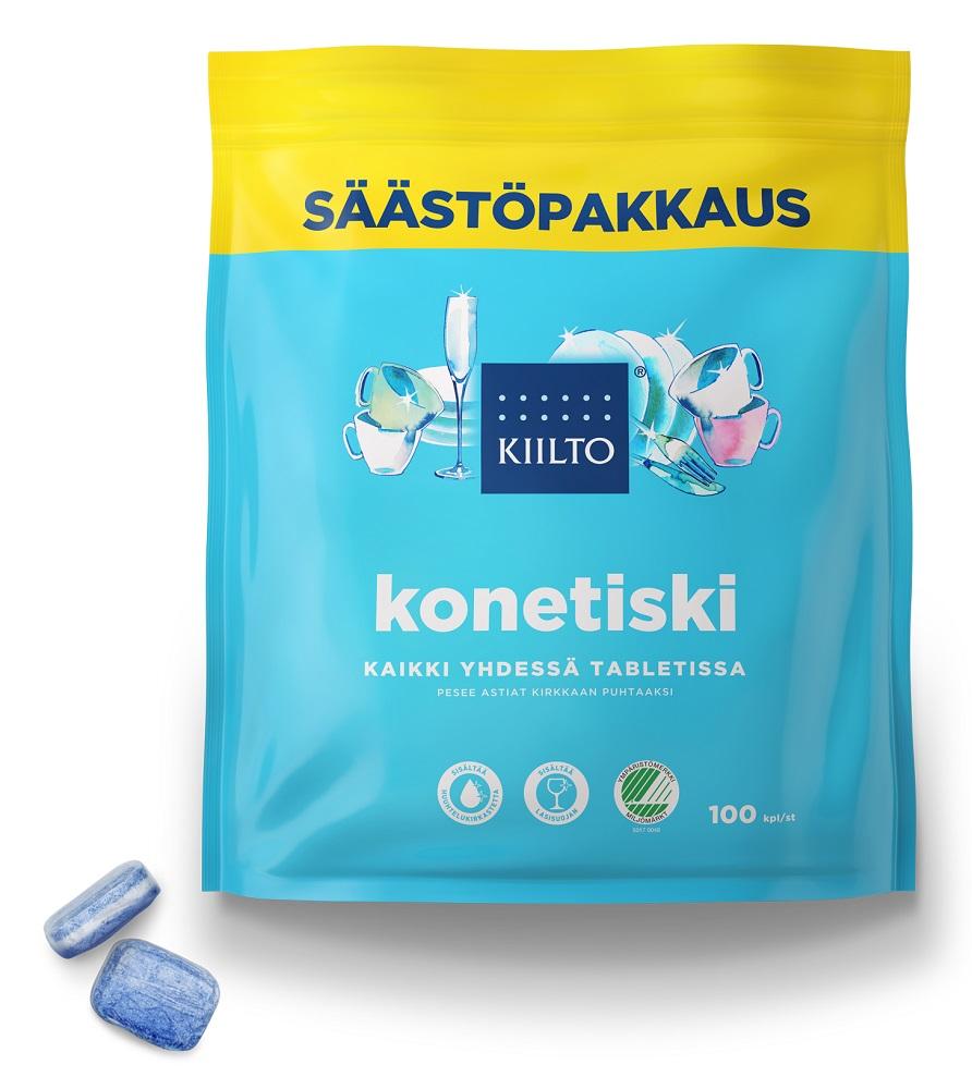 Купить Таблетки для посудомоечной машины Kiilto Dish Tabs All in one, 100шт., Финляндия