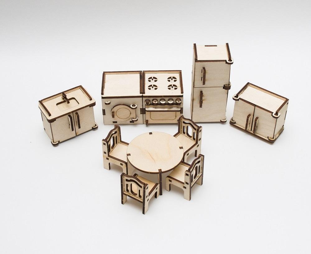 Купить Набор сборной мебели Эlen Toys Кухня для кукольного домика , 10 предметов, Россия