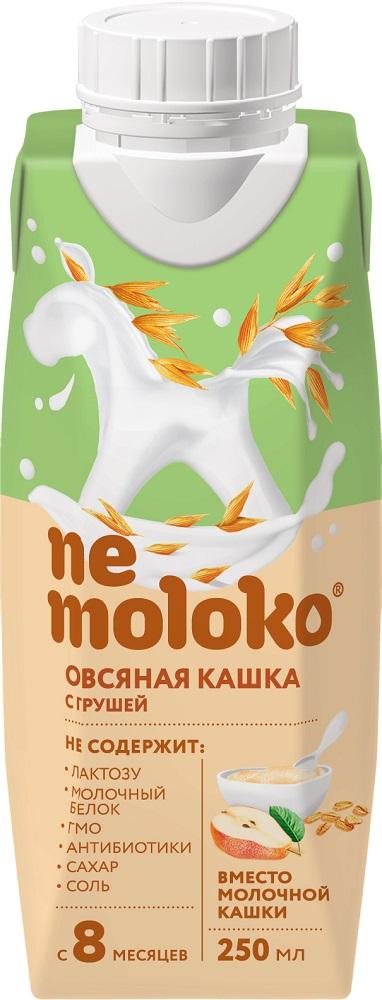 Купить Каша овсяная Nemoloko с грушей, 0, 25л, Россия