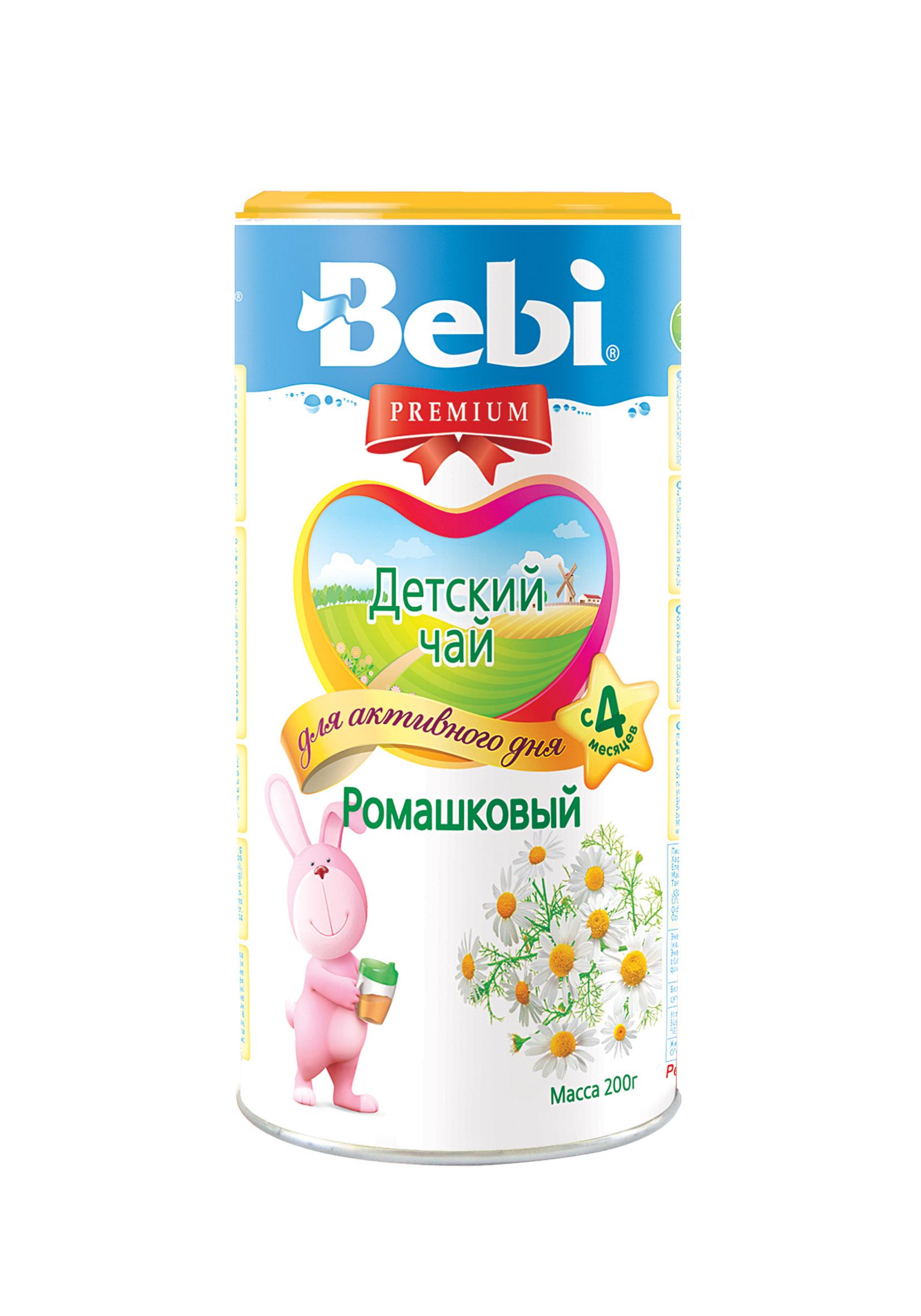 Купить Растворимый детский чай Bebi Premium ромашковый, 200гр, Словения
