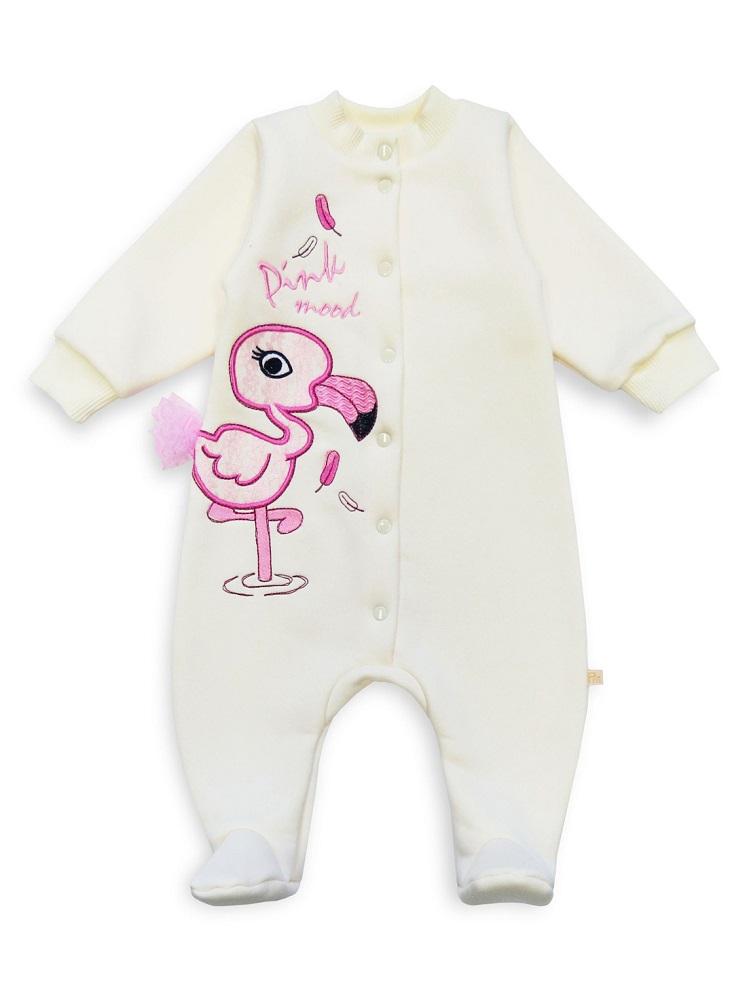 Купить Комбинезон Persona Mini Фламинго , молочный, Polini Kids, Россия, Молочный, 68