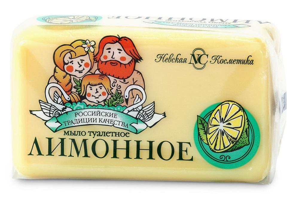Купить Мыло туалетное Невская Косметика Лимонное , 140гр, Россия