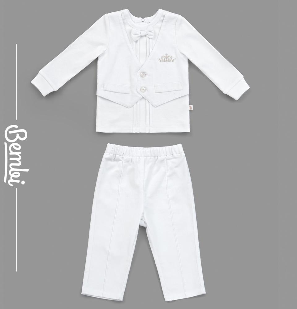 Купить Костюм Bembi Принц : кофта и штанишки, Наша Мама, Россия, Белый, 62