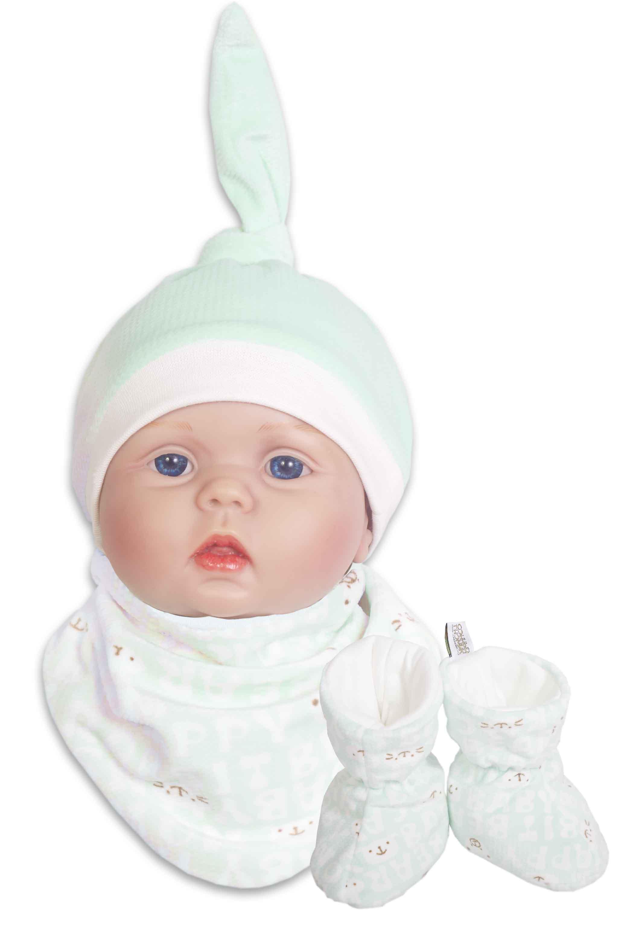 Купить Комплект Сонный Гномик Мармеладик : шапочка, пинетки, манишка, мятный, Россия
