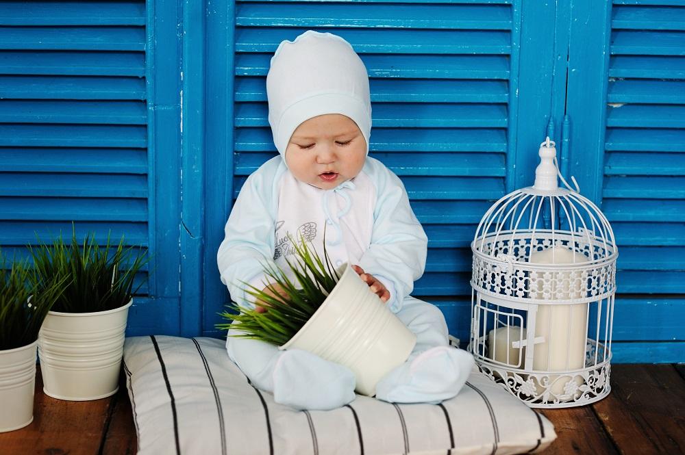 Купить Ползунки Lucky Child Ангелочки , голубые, Наша Мама, Россия, Голубой, 68