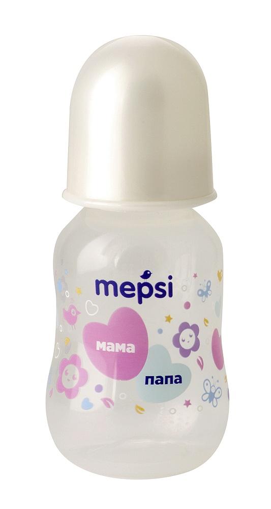 Купить Бутылочка для кормления Mepsi с силиконовой соской, 125мл, Россия