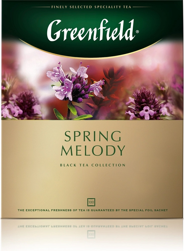 Купить Чай черный Greenfield Spring Melody, 100 пакетиков, Россия