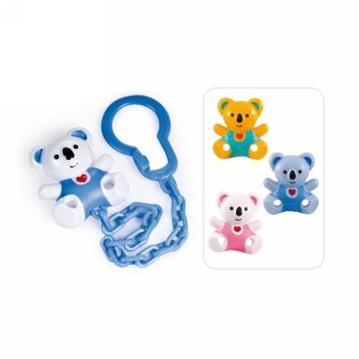 """Клипса-держатель для пустышек Canpol babies """"Медвежонок с сердечком"""", 0+, голубая ПоМа цвет с 0 месяцев"""
