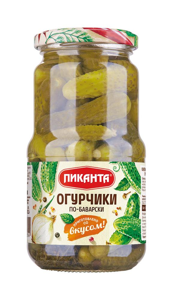 Купить Огурчики по-баварски Пиканта (3-6см), 520гр, Россия