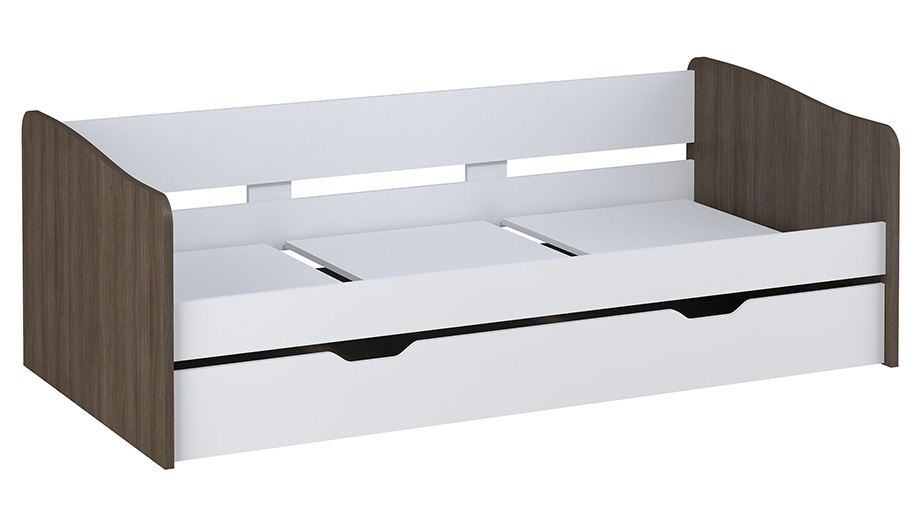 Купить Кровать детская выдвижная Polini kids Simple 4210, белый-трюфель, Россия