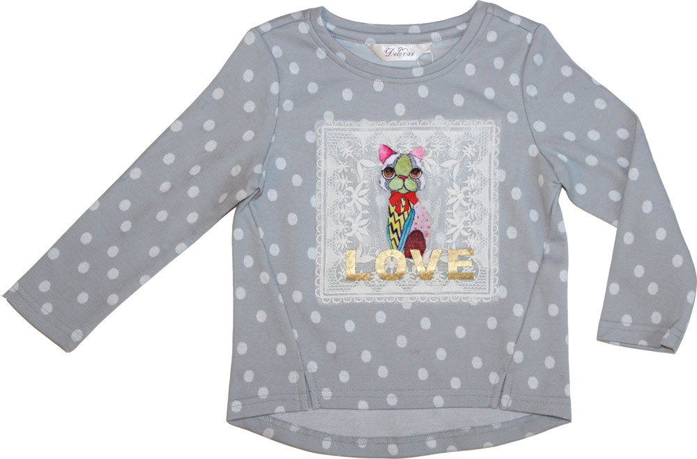 Джемпер Deloras Love серый