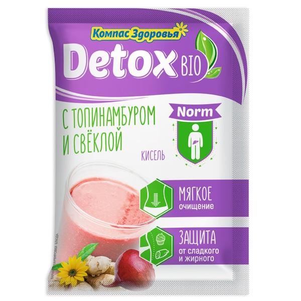 """Кисель Компас Здоровья """"Detox bio norm"""", с топинамбуром и свеклой, 25гр"""