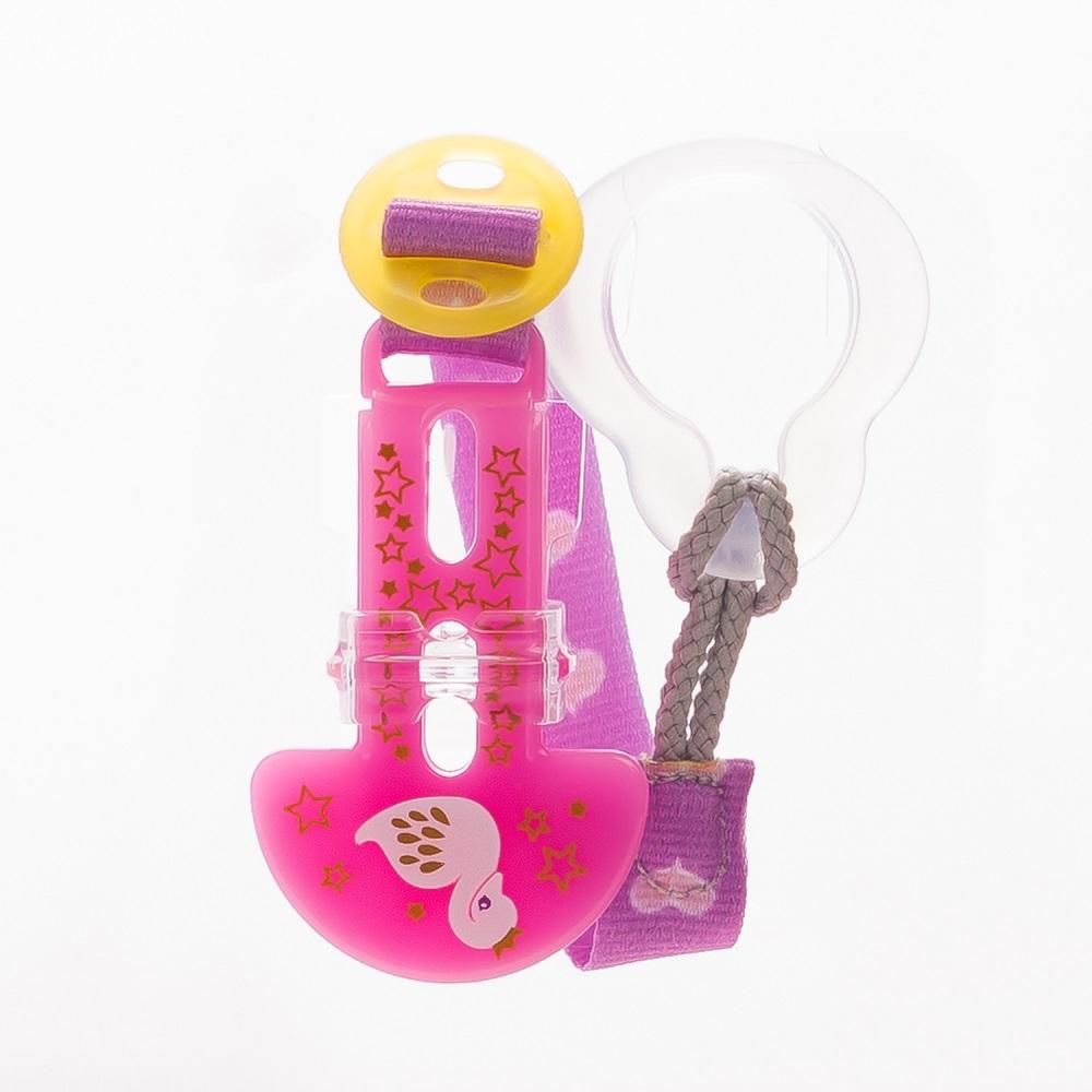 Держатель для пустышки МАМ Clip it! (цвета в ассорт.), Canpol babies, Польша, розовый  - купить со скидкой