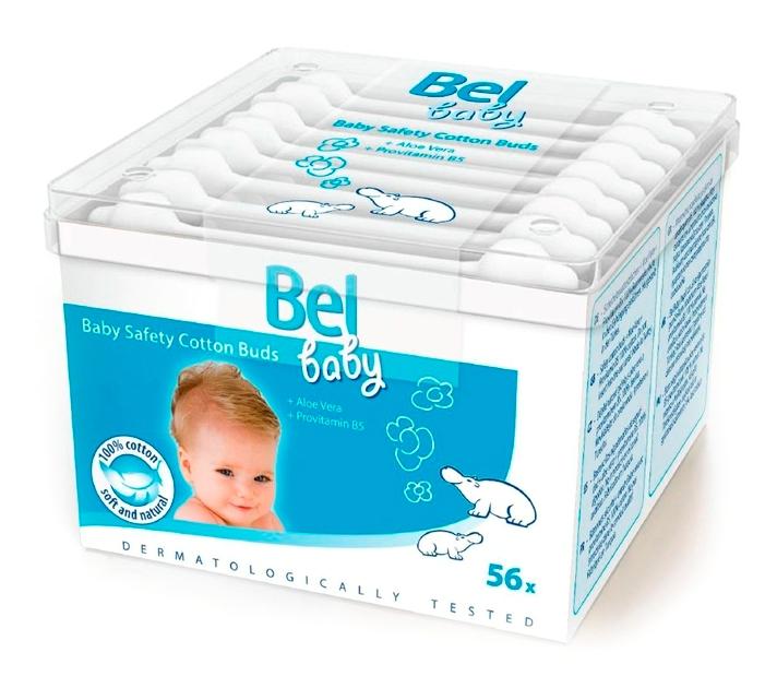 Детские ватные палочки Bel Baby Safety Buds, безопасные, 56шт. фото