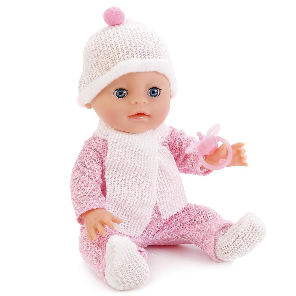 """Интерактивная кукла """"Карапуз"""" Пупс в вязанной одежде, с аксессуарами"""