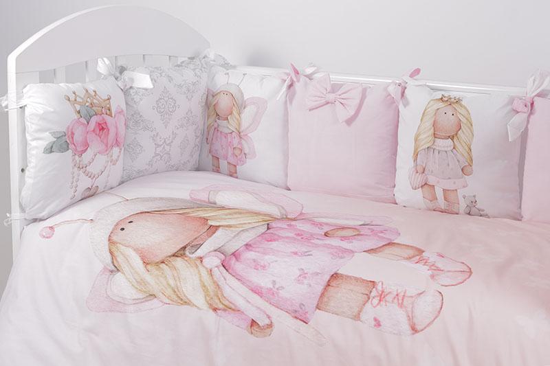 Купить Комплект в кроватку Топотушки Принцесса Фей , 6 предметов, простынь на резинке, Россия