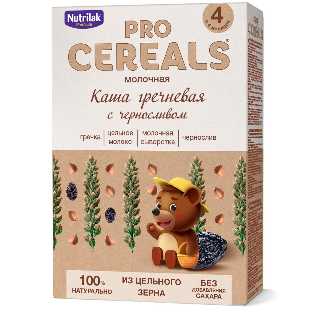 Купить Каша гречневая с черносливом Nutrilak Premium Pro Cereals цельнозерновая молочная, 200гр, Россия