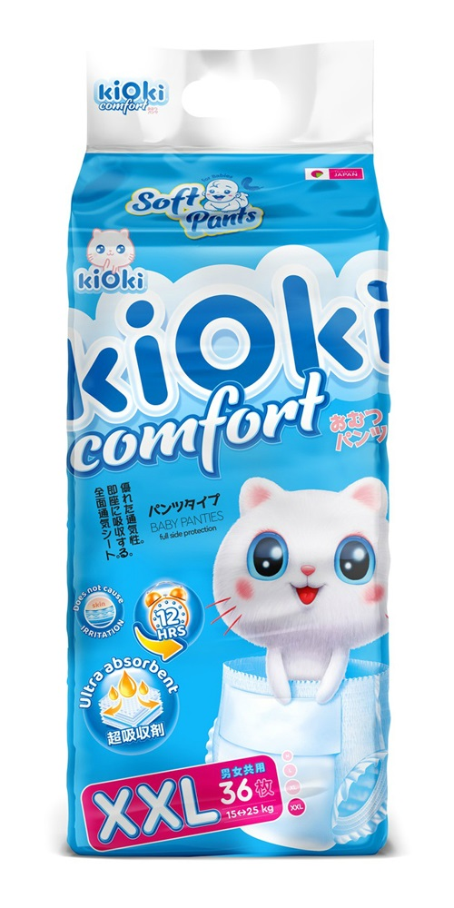 Подгузники-трусики kiOki Comfort Soft XXL (15-25кг), 36шт.