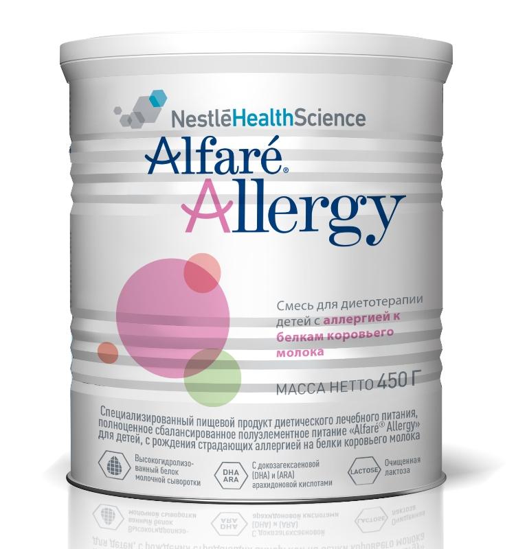 Купить Сухая лечебная смесь Nestle Alfare Allergy, гипоаллергенная, 450гр., Nestle Health Science, Швейцария