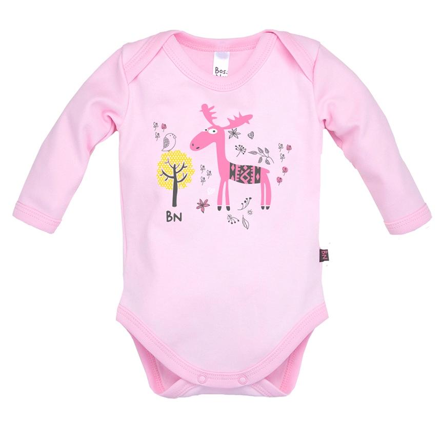 Купить Боди Bossa Nova с длинным рукавом, розовое, Наша Мама, Россия, Розовый, 56
