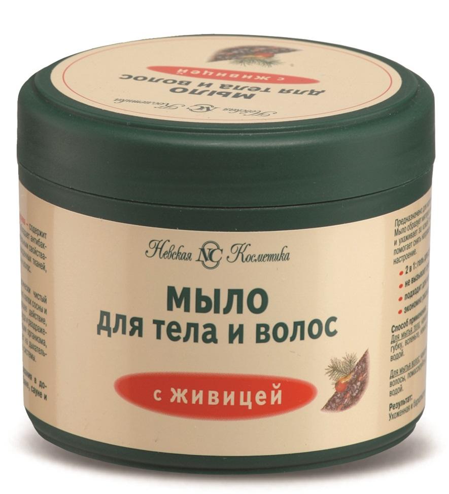 Купить Мыло Невская Косметика С живицей для тела и волос, 300мл, Россия