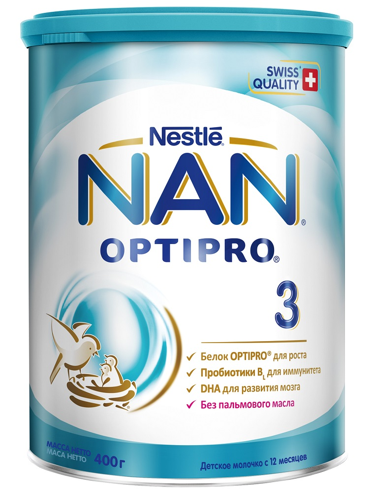 NAN® 3 Optipro Детское молочко для детей с 12 месяцев, 400гр