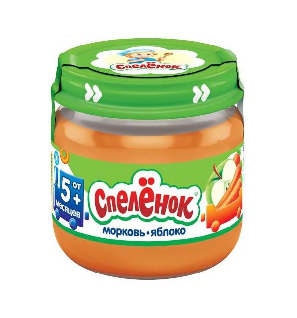 Купить Пюре Спеленок Морковь-яблоко, 80гр, Россия