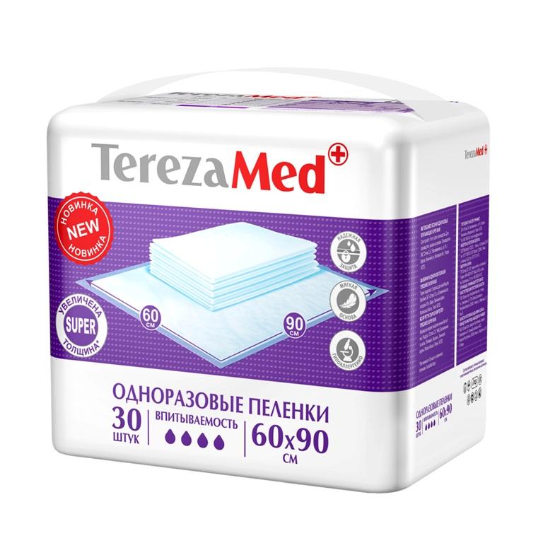 Пеленки одноразовые TerezaMed Super 60x90, 30шт.