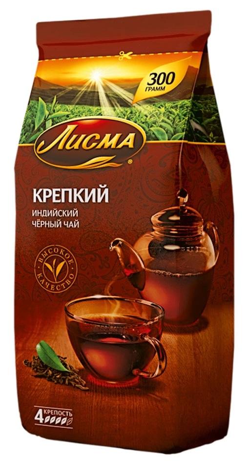 Купить Чай черный Лисма Крепкий индийский, 300гр, Россия