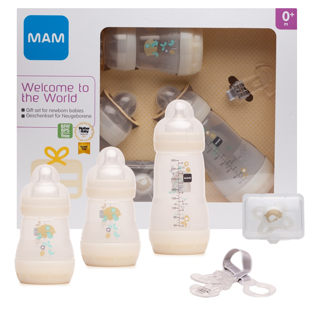 Купить Подарочный набор МАМ Welcome to the world Giftset для новорожденных (цвета в ассорт.), Chicco, Италия, бежевый