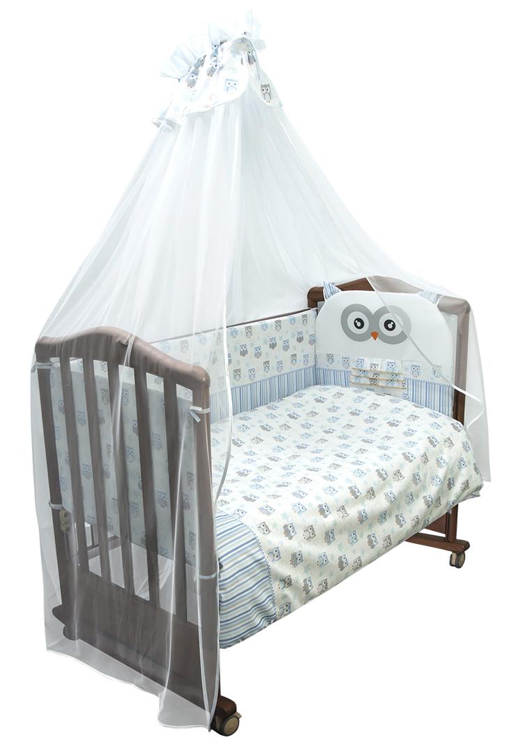 Купить Комплект в кровать Сонный Гномик Софушки , 7 предметов, голубой, Россия